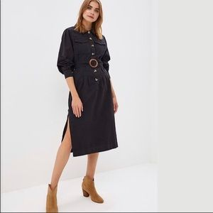 Free people Audrey button down shirt dress NWT